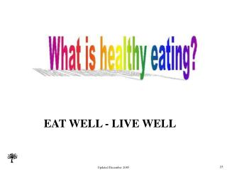 EAT WELL - LIVE WELL