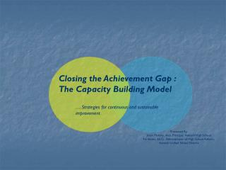 Closing the Achievement Gap :  The Capacity Building Model