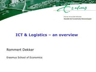 ICT & Logistics – an overview