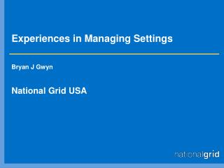 Experiences in Managing Settings