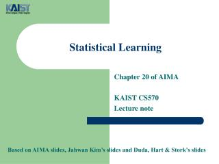 Statistical Learning