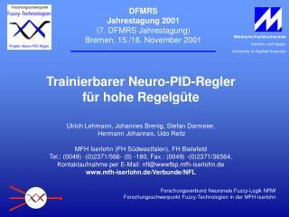 DFMRS Jahrestagung 2001 (7. DFMRS Jahrestagung) Bremen, 15./16. November 2001