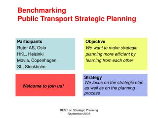 Benchmarking Public Transport Strategic Planning