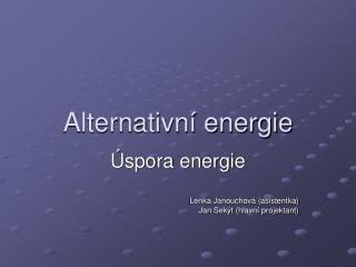 Alternativní energie