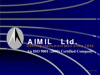 An ISO 9001 (2000) Certified Company