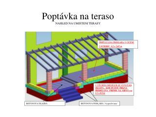 Poptávka na teraso NAHLED NA UMISTENI TERASY