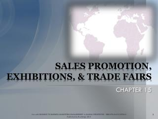 SALES PROMOTION, EXHIBITIONS, & TRADE FAIRS