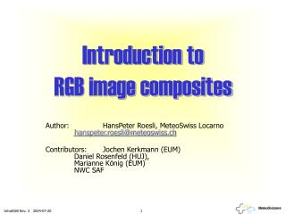 Introduction to  RGB image composites