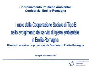 Coordinamento Politiche Ambientali  Confservizi Emilia-Romagna