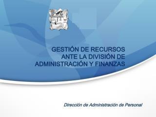 Dirección de Administración de Personal