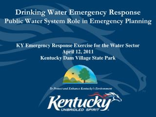 Drinking Water Emergency Response Public Water System Role in Emergency Planning