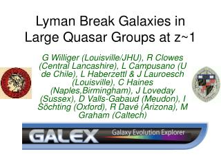 Lyman Break Galaxies in Large Quasar Groups at z~1