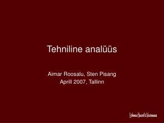 Tehniline analüüs