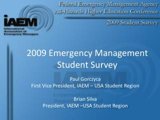 2009 Emergency Management  Student Survey