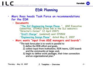 EDR Planning