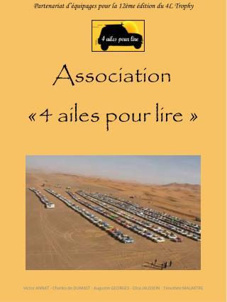 Association « 4 ailes pour lire »