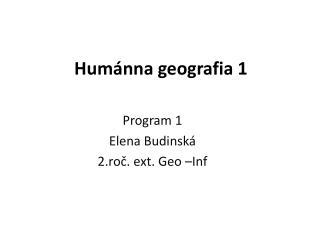 Humánna geografia 1