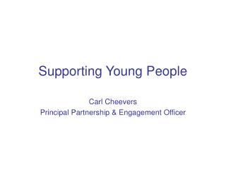 Supporting Young People