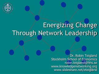 Energizing Change  Through Network Leadership