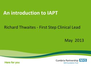 An introduction to IAPT