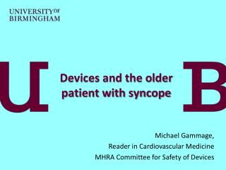 Devices and the older patient with syncope