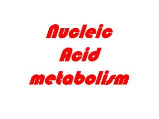 Nucleic Acid metabolism