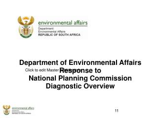 Department of Environmental Affairs Response to  National Planning Commission  Diagnostic Overview