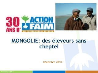 MONGOLIE: des éleveurs sans cheptel