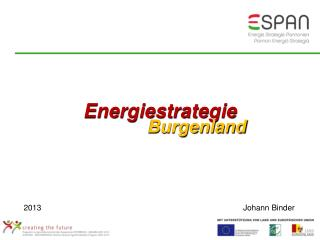 Energiestrategie Burgenland  2013Johann Binder