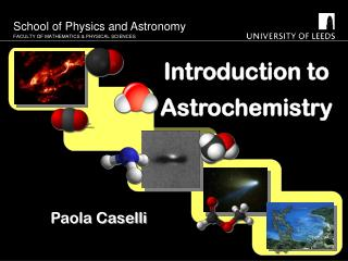Introduction to Astrochemistry