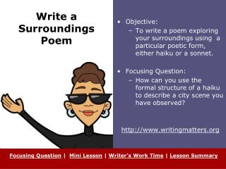 Write a Surroundings Poem