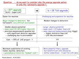 s = 28 TeV upgrade