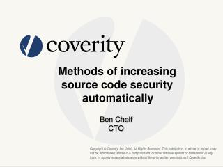 Methods of increasing  source code security  automatically