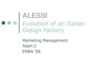 ALESSI Evolution of an Italian Design Factory