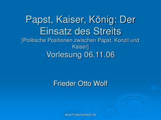 Frieder Otto Wolf