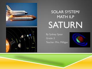 Solar SYSTEM/ MATH ILP SATURN