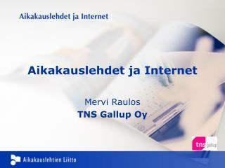 Aikakauslehdet ja Internet