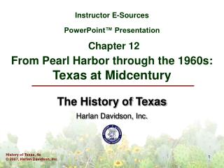 The History of Texas Harlan Davidson, Inc.