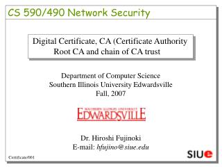 CS 590/490 Network Security