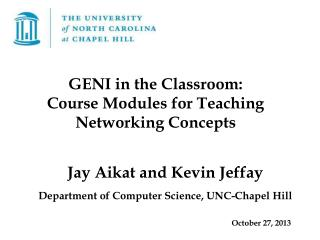 Jay Aikat and Kevin Jeffay  Department of Computer Science, UNC-Chapel Hill October 27, 2013