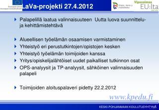 PaLaVa-projekti 27.4.2012