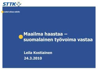 Maailma haastaa –  suomalainen työvoima vastaa