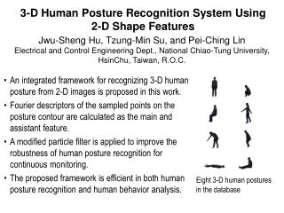 3-D Human Posture Recognition System Using 2-D Shape Features