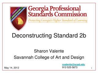 Deconstructing Standard 2b