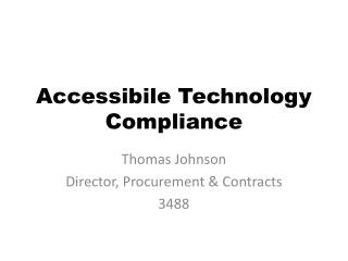 Accessibile Technology Compliance
