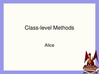 Class-level Methods