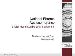National Pharma Audioconference
