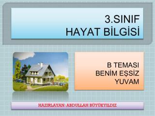 3.SINIF  HAYAT BİLGİSİ