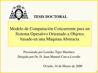 Modelo de Computaci n Concurrente para un Sistema Operativo Orientado a Objetos basado en una M quina Abstracta