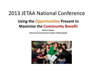 2013 JETAA National Conference